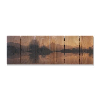 Still Lake -32x11 Indoor/Outdoor Full Color Cedar Wall Art