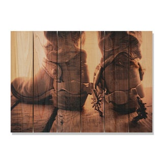Show Down -33x24 Indoor/Outdoor Full Color Cedar Wall Art