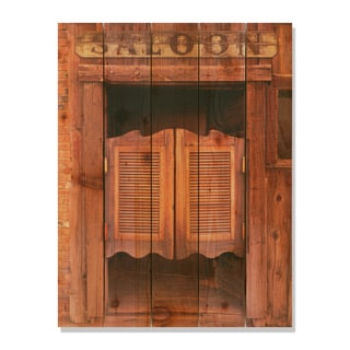Saloon Door -28x36 Indoor/Outdoor Full Color Cedar Wall Art
