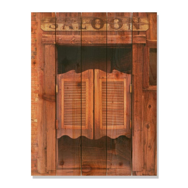 Saloon Door -28x36 Indoor/Outdoor Full Color Cedar Wall Art  sc 1 st  Overstock & Saloon Door -28x36 Indoor/Outdoor Full Color Cedar Wall Art - Free ... pezcame.com