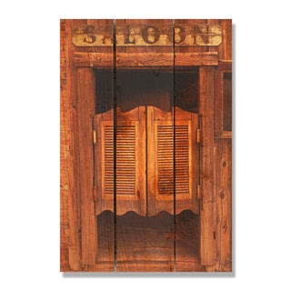 Saloon Door -16x24 Indoor/Outdoor Full Color Cedar Wall Art