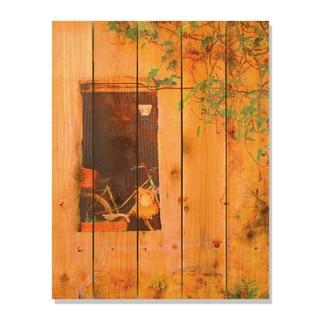 Summer Bicycle -28x36 Indoor/Outdoor Full Color Cedar Wall Art