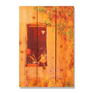 Summer Bicycle -16x24 Indoor/Outdoor Full Color Cedar Wall Art