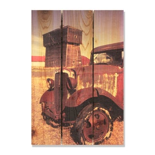 Rust Bucket -16x24 Indoor/Outdoor Full Color Cedar Wall Art