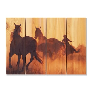 Round Up -22.5x16 Indoor/Outdoor Full Color Cedar Wall Art
