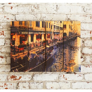 Raffael's Restorante -22.5x16 Indoor/Outdoor Full Color Cedar Wall Art