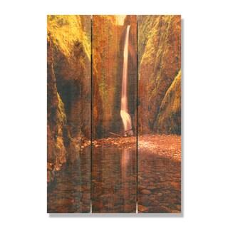 Reflection Falls -16x24 Indoor/Outdoor Full Color Cedar Wall Art