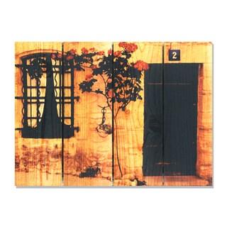 Red Flower -22.5x16 Indoor/Outdoor Full Color Cedar Wall Art