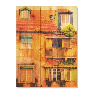 Painted House -28x36 Indoor/Outdoor Full Color Cedar Wall Art