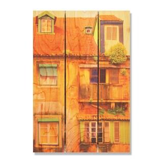 Painted House -16x24 Indoor/Outdoor Full Color Cedar Wall Art