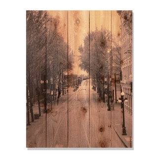 City Street -28x36 Indoor/Outdoor Full Color Cedar Wall Art