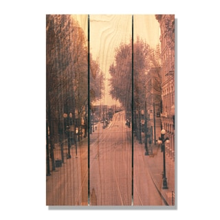City Street -16x24 Indoor/Outdoor Full Color Cedar Wall Art
