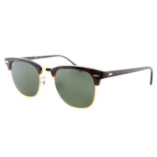 Ray-Ban RB 3016 990/58 Red Havana And Gold Green Polarized Lens Clubmaster Sunglasses