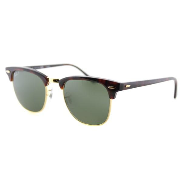 ea2c1bd21be Ray-Ban RB 3016 990 58 Red Havana And Gold Green Polarized Lens Clubmaster