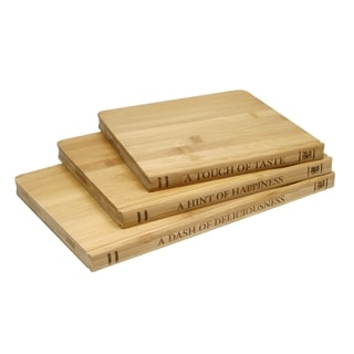 Sabatier Library Bamboo Cutting Board 3 Pack