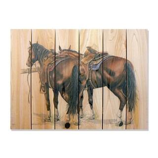 Saddle Up 33x24 Indoor/Outdoor Full Color Cedar Wall Art