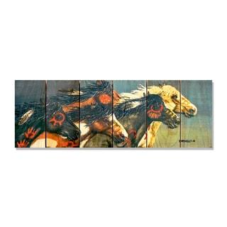 Night Raid 32x11 Indoor/Outdoor Full Color Cedar Wall Art