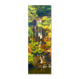 Forest Waterfall - 11x32 Indoor/Outdoor Full Color Cedar Wall Art
