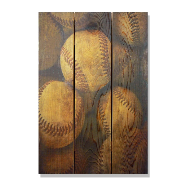 Shop Vintage Baseball - 16x24 Indoor/Outdoor Full Color Cedar Wall ...