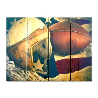 Leather Head - 22x16 Indoor/Outdoor Full Color Cedar Wall Art