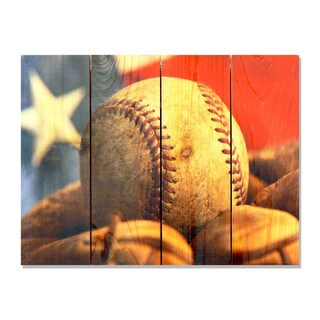 All American - 22x16 Indoor/Outdoor Full Color Cedar Wall Art