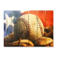 All American - 33x24 Indoor/Outdoor Full Color Cedar Wall Art