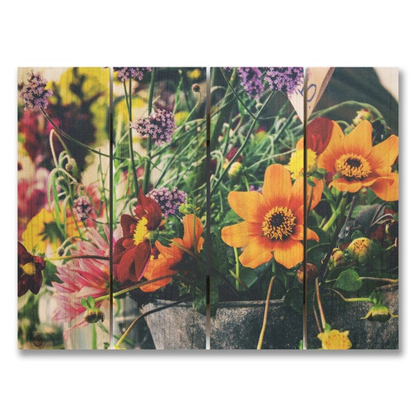 Spring Fever 22x16 Indoor/Outdoor Full Color Cedar Wall Art