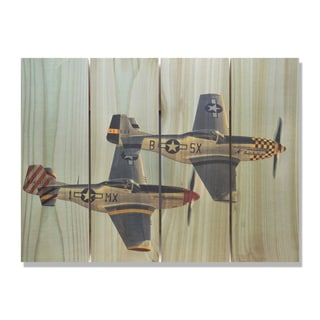 Wing Man 22x16 Indoor/Outdoor Full Color Cedar Wall Art