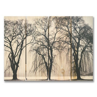 Winter Trees 22x16 Indoor/Outdoor Full Color Cedar Wall Art