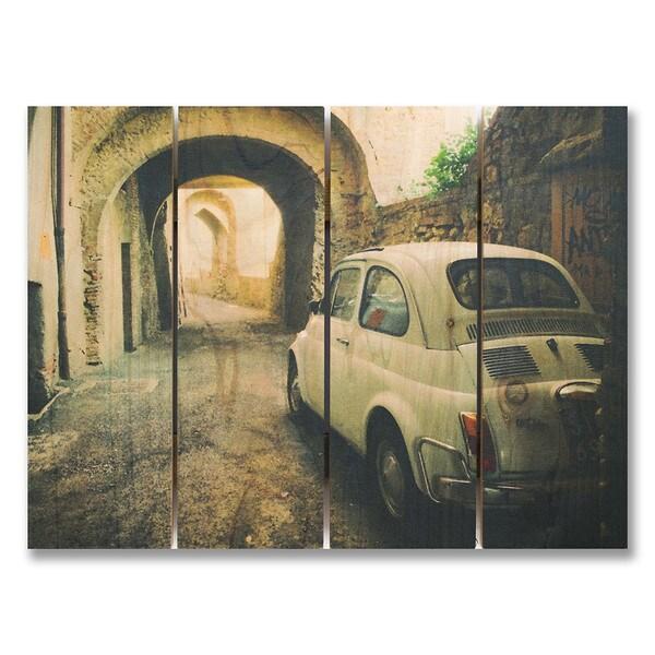 French Fiat 22x16 Indoor/Outdoor Full Color Cedar Wall Art