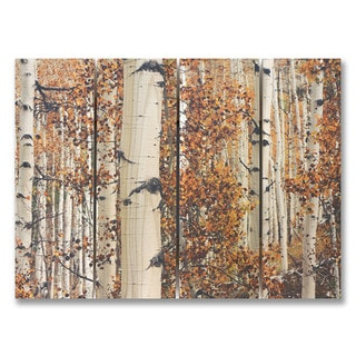 Fall Aspens 22x16 Indoor/Outdoor Full Color Cedar Wall Art
