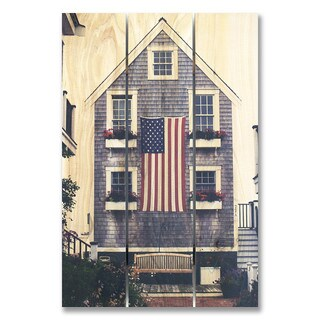 Independence Day 16x24 Indoor/Outdoor Full Color Cedar Wall Art