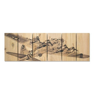 Air Raid 32x11 Indoor/Outdoor Full Color Cedar Wall Art