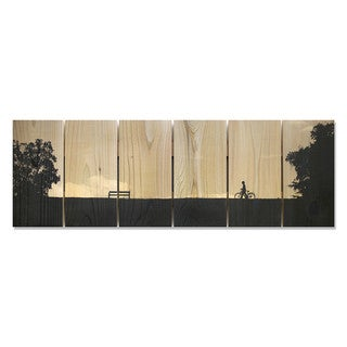 Silhouette Park 32x11 Indoor/Outdoor Full Color Cedar Wall Art