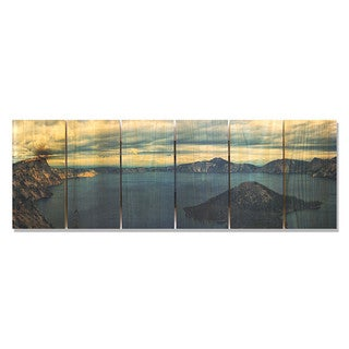 Crater Lake 32x11 Indoor/Outdoor Full Color Cedar Wall Art