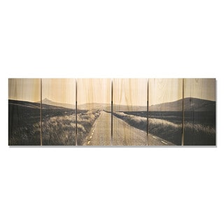 Road to Nowhere 32x11 Indoor/Outdoor Full Color Cedar Wall Art