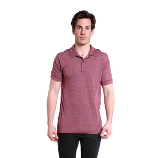 Excelled Men's Heather Wine Red Polo
