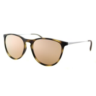 Ray-Ban RJ 9060S 70062Y Erika Junior Havana Rubber Round Pink Mirror Lens Sunglasses