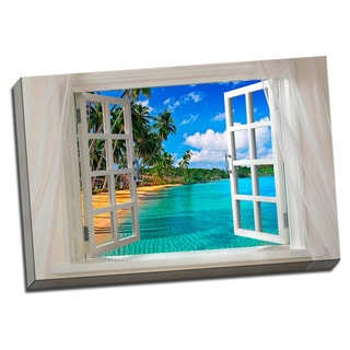 Glimpse into the Beach Canvas Printed on Stretched Framed Ready to Hang Canvas