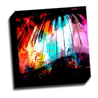 Colorful Piano2 12x12 Music Art Printed on Stretched Framed Ready to Hang Canvas