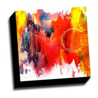 Colorful Guitar1 12x12 Music Art Printed on Ready to Hang Framed Canvas