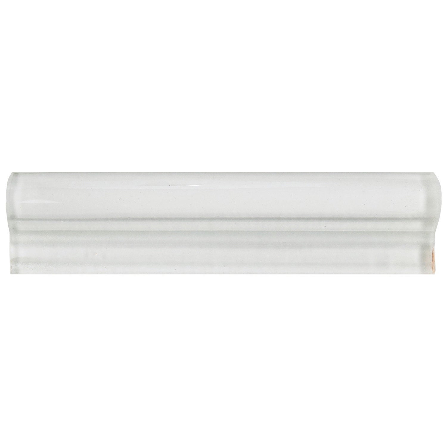 SomerTile 9.9x9.9-inch Reflections Ice White Glass Chair Rail Trim Tile  (90 tiles)
