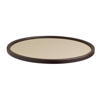 Cosmopolitan 14-inch Round Serving Tray With .5-inch Rim
