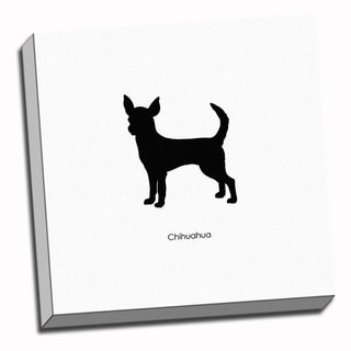 Chihuahua Dog Black and White Art Printed on Ready to Hang Framed Canvas