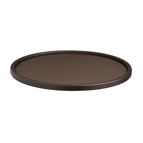 Kraftware Cosmopolitan 14-inch Round Serving Tray with .5-inch Rim