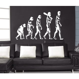 Evolution evolutionary chain Wall Art Sticker Decal White