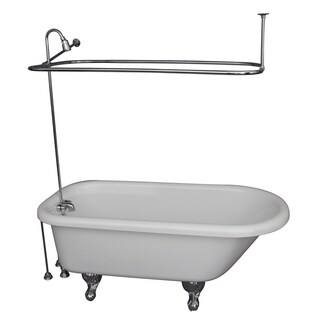 67-inch x 29.5-inch Soaking Bathtub Kit Finish: Chrome