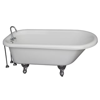 60-inch Double Acrylic Slipper tub in White