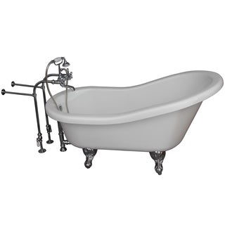 5.6-foot Acrylic Ball and Claw Feet Tub in White