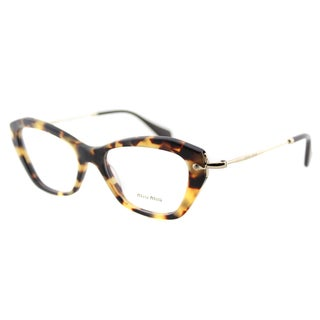 Miu Miu MU 04LV HAN1O1 Sand Light Havana Plastic Cat-Eye 52mm Eyeglasses